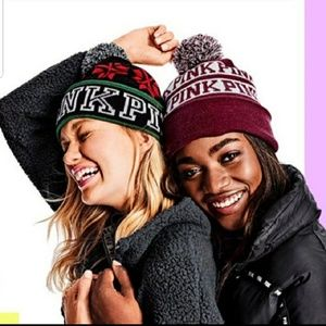 New Victoria's Secret Pink Pom Pom Beanie